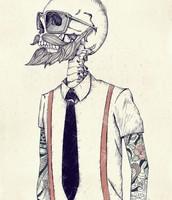 El esqueleto de hipster