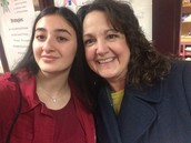 Sophomore Feruza meets up with her ELL teacher from Maugansville.