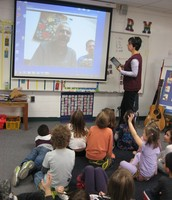 Skype visit with Mrs. Mandaiker's father (in India!)