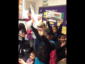 2nd Graders participate in a Rally