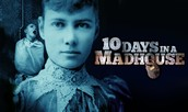 A POSTER FOR HER BOOK 10 DAYS IN A MAD HOUSE