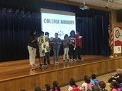Ms. Ruiz's 5th graders teach us about St. Edwards University at College Monday Assembly!