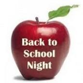 Back to School Night: September 17