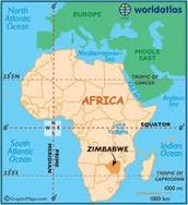 Location of Zimbabwe