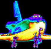 Infrared image of a space shuttle