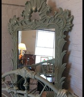 Ornate Chalk Painted Mirror - $275