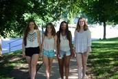 Mi amigas, Erin, Khushi y Kelsey