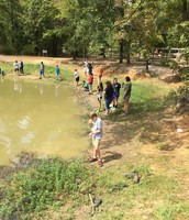 Testing the water at Sky Ranch Adventure Pond