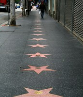 Stroll down Hollywood Walk of Fame