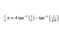 Machins Formula