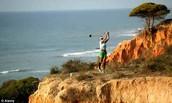 Golfing off seaside resorts