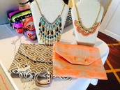 BOLD NECKLACES & CLUTCHES