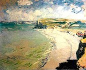 Beach in Pourville, Claude Monet