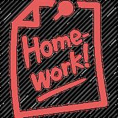 Homework and Missing Work Information: