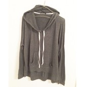 Long hoodie pullover