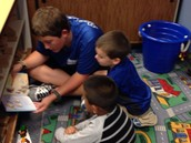 High School Students Read to Kindergarten Students
