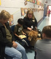 The dogs loved listening to our stories!