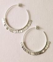 Silver Fringe Hoops - Large