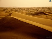 sand dunes get pushed by the wind