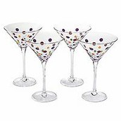 Dots Martini Glasses (set of 4)