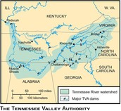 Map of TVA
