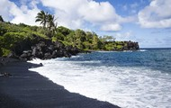 One'uli Black Sand Beach