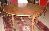 Hinged Wooden Round Table