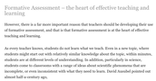 """""""Why formative assessment should be an enduring priority for every teacher"""""""