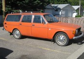The Orange Toyota Station Wagon