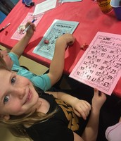 Kiley at the Math Carnival and Chicken Dinner