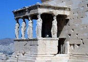 Caryatids statues were on Architecture