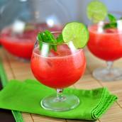 watermelon agua fresca (sesientos  trenta y dos pesos 632)
