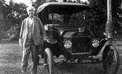 Thomas Edison With The Ford Model T