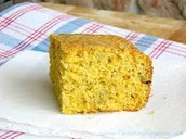 1 small piece of Cornbread