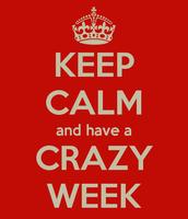 Crazy Week Schedule! June 13th-17th