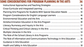 Considerations for Arts Planning