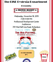 RISD Dyslexia Movie Night