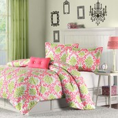 Mi-Zone Katelyn Coral Teen Comforter Set ~ 49.99