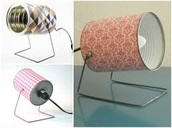 Recycle cans to make decorative lamps!