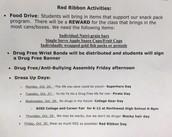 Red Ribbon Week Dress Up Themes