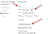 Setting Reminders