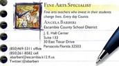 Angela C. Barberi, ECSD Fine Arts Specialist