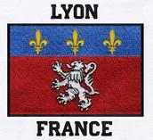 THE FLAG OF LYON FRANCE
