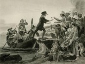 Anne Hutchinson and Rodger Williams landing on Rhode Island