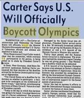 Moscow Olympic Boycott