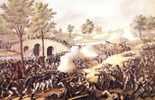 Union and Confederate Forces Collide