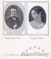 Edgar Allen Poe and wife Virginia Poe