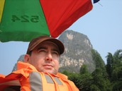 On a river in Guilin