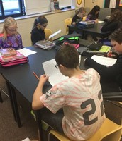 5th grade students practicing their Fluency Skills