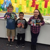 3rd grade with their books